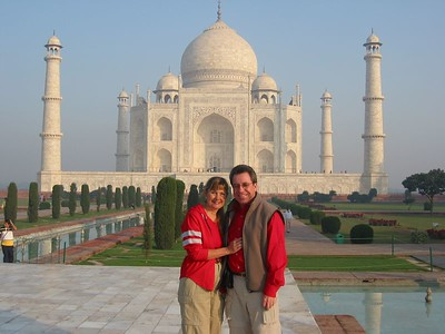 The highlight of any trip to India has to be the visit to the incomparable Taj Mahal.  Like the Grand Canyon and the Great Wall of China, the photos just don't get it.  You have to stand in front of it to really understand the beauty and grandure of this amazing structure, which is a monument to a king's love of his queen.